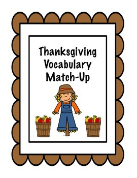 Thanksgiving Vocabulary Match-Up