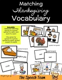 Thanksgiving Vocabulary Matching & Clip Card Activities