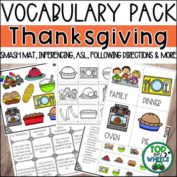 Thanksgiving Vocabulary Pack