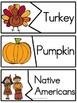 Thanksgiving Vocabulary Puzzles Freebie
