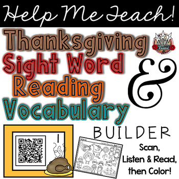 Thanksgiving QR Codes: Listen, Read, Find and Color