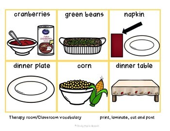 My Thanksgiving Plate Vocabulary Set