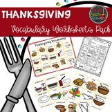 Thanksgiving Vocabulary Worksheets