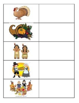 Thanksgiving Vocabulary (Spanish and English)