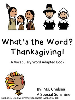 Thanksgiving Vocabulary Unit for Special Education