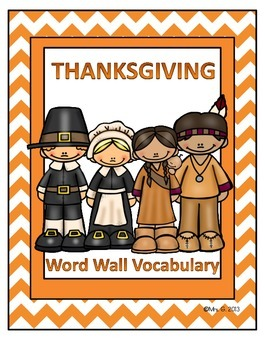 Thanksgiving Word Wall / Writing Center Vocabulary Cards