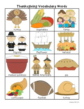 Thanksgiving Vocabulary Words