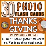 Thanksgiving Vocabulary Cards Photo Flash Cards