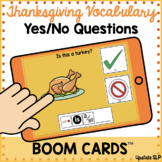 Thanksgiving Vocabulary Yes/No Questions with Sentence Str