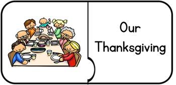 Thanksgiving Vocabulary/Visual Jigsaw Puzzle Match