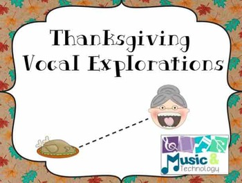 Thanksgiving Vocal Exploration Posters