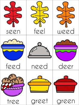Thanksgiving Vowel Digraph Cards