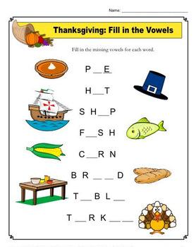 Thanksgiving Vowels