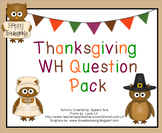 "Thanksgiving ""WH"" Question Pack"