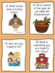 Thanksgiving WH questions {expressive language skills to pair with any game}