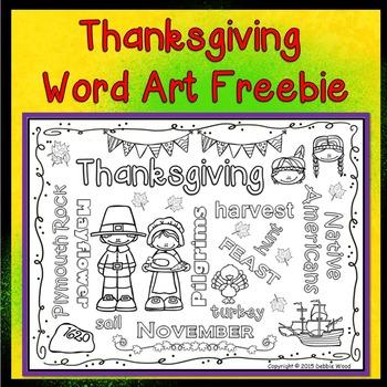 Thanksgiving WORD ART FREEBIE