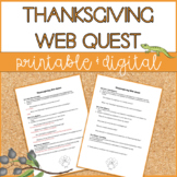 Thanksgiving Web Quest