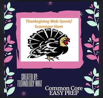 Thanksgiving Web Quest / Scavenger Hunt