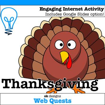 Thanksgiving WebQuest - Engaging Internet Activity