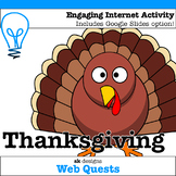 Thanksgiving WebQuest - Engaging Internet Activity {Includ