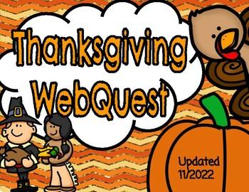 Thanksgiving WebQuest (Printable Booklet)
