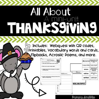 Thanksgiving WebQuest and Mini-Unit