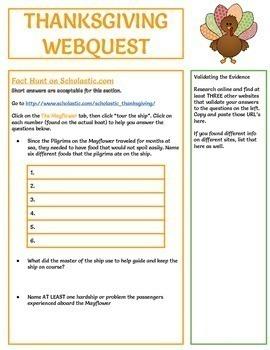 Thanksgiving Webquest - Fully Editable in Google Slides!