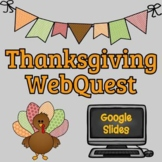 Thanksgiving Webquest - Reading Comprehension, Computer Te