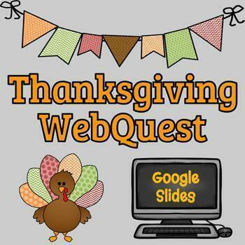 Thanksgiving Webquest - Reading Comprehension, Computer Te