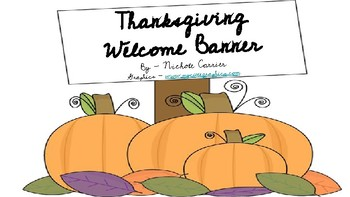 Thanksgiving Welcome Banner