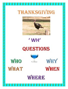 Thanksgiving 'Wh' Questions