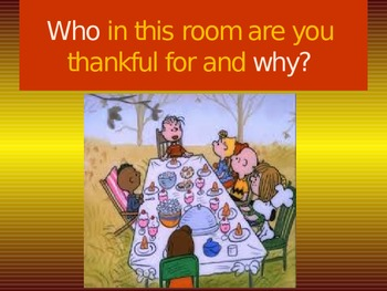 Thanksgiving Wh questions