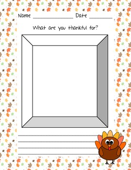 Thanksgiving - What are you thankful for? - Paper