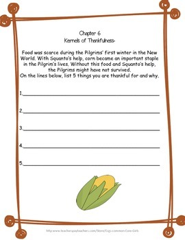 Thanksgiving: What Was the First Thanksgiving- Common Core, No Prep, Printables