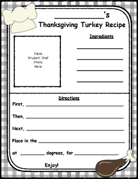 Thanksgiving, When Primary Students Make Thanksgiving Dinner Recipes