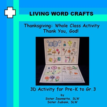 Thanksgiving Whole Class Puzzle Activity for Pre-K to Gr3