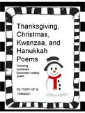 Thanksgiving, Winter,  Christmas, Hanukkah, and Winter Holidays Poems
