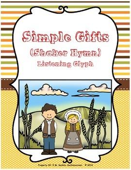 Thanksgiving/Winter/Music Appreciation Listening Glyph: Simple Gifts/Shaker Hymn