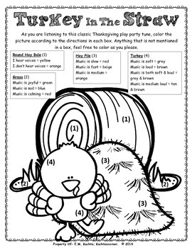 Thanksgiving/Winter/Play-Party Listening Glyph: Turkey In The Straw