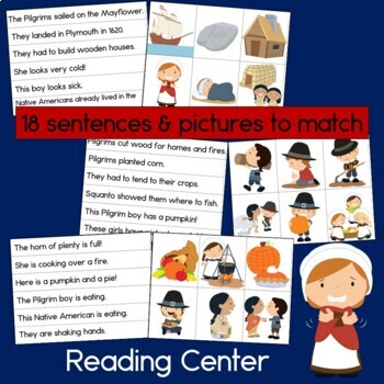 Thanksgiving With the Pilgrims Bundle: Reading, Patterns and Time