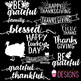 Thanksgiving Word Art Overlays  Digital Graphics -Commercial Use