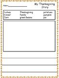 Thanksgiving Word Bank Writing