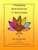 Thanksgiving Word Family Sort