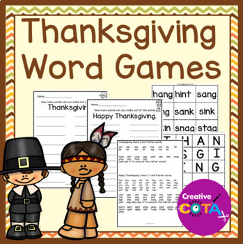 Thanksgiving Word Games