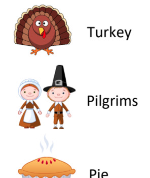 Thanksgiving Word List