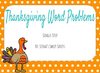 Thanksgiving Word Problem Scoot