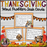 Thanksgiving Word Problem Task Cards: Sums to 20