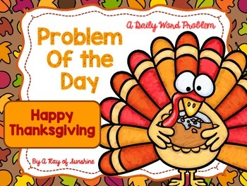 Thanksgiving Word Problems {Freebie}