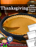 Thanksgiving Word Problems Add, Subtract, Multiply, & Divide