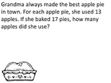 Thanksgiving Word Problems (Mixed Operations and Multiple step)